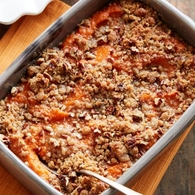 Make this crowd-pleasing holiday favorite the classic way: with buttery mashed sweet potatoes and a crunchy pecan topping.