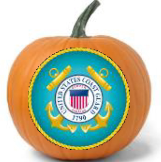 Military Pumpkins Coast Guard