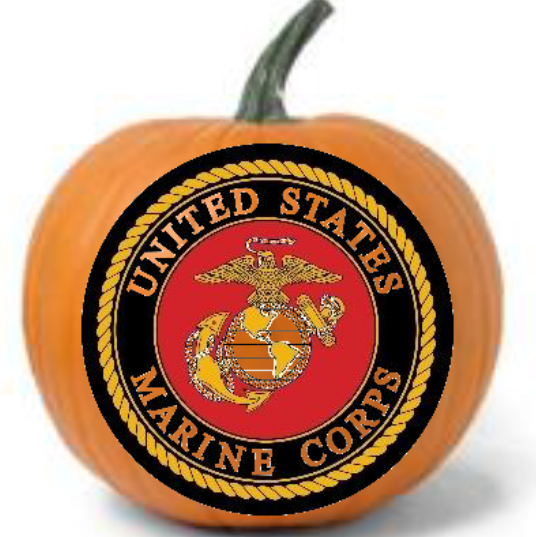 Military Pumpkins Marines